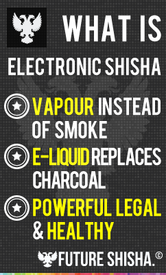 What is Electronic Shisha - E-Liquid Instead of Charcoal - Vapour Instead of Smoke - Powerful, Legal & Heathly