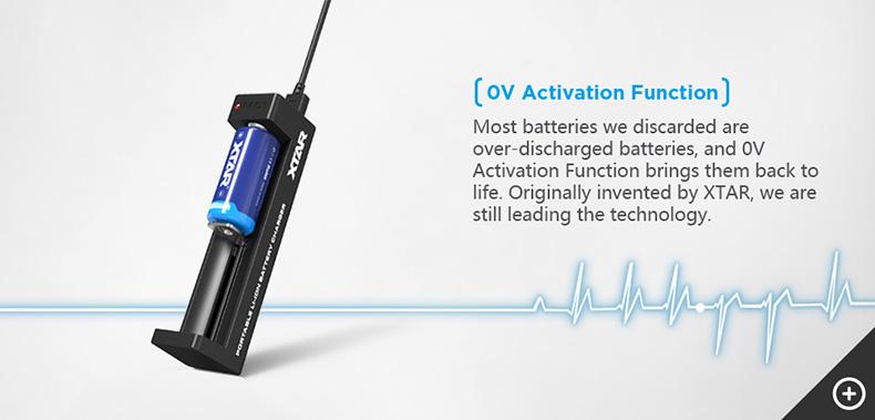 Xtar MC1 Charger 0V Activation