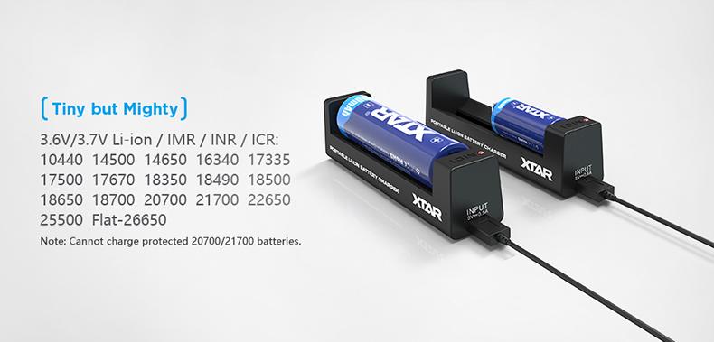 Xtar MC1 Range 10440 - 26650