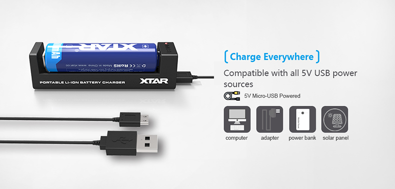 Xtar MC1 Charger 5 Volts
