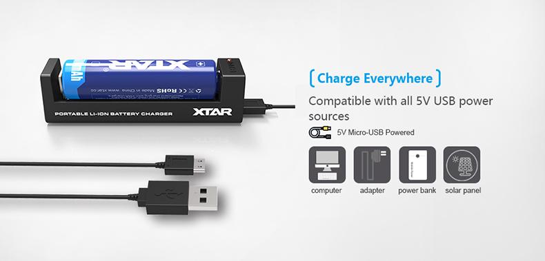 Xtar MC1 Charger 5 Volts