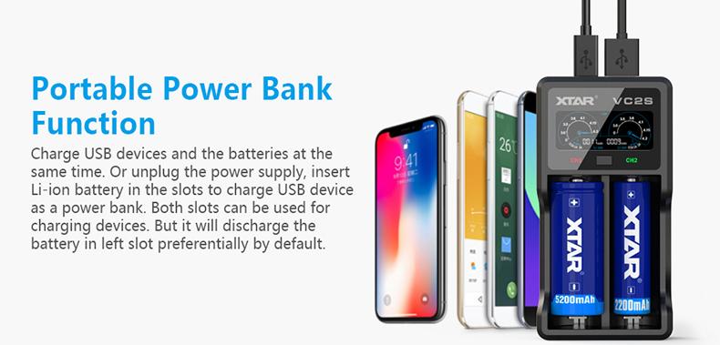 VC2s Xtar Power Bank