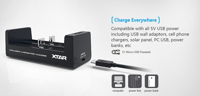 XTAR MC2 5V Charging