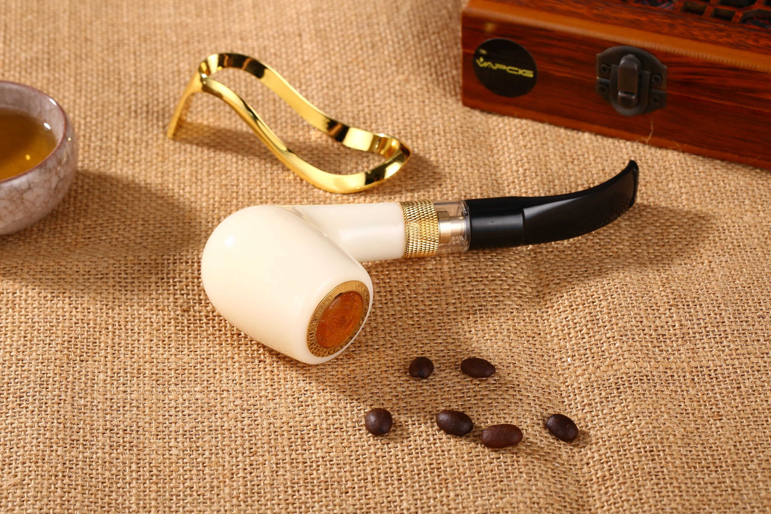 Executive Traditional ePipe Electronic Pipe Vapcig Replica Cream White