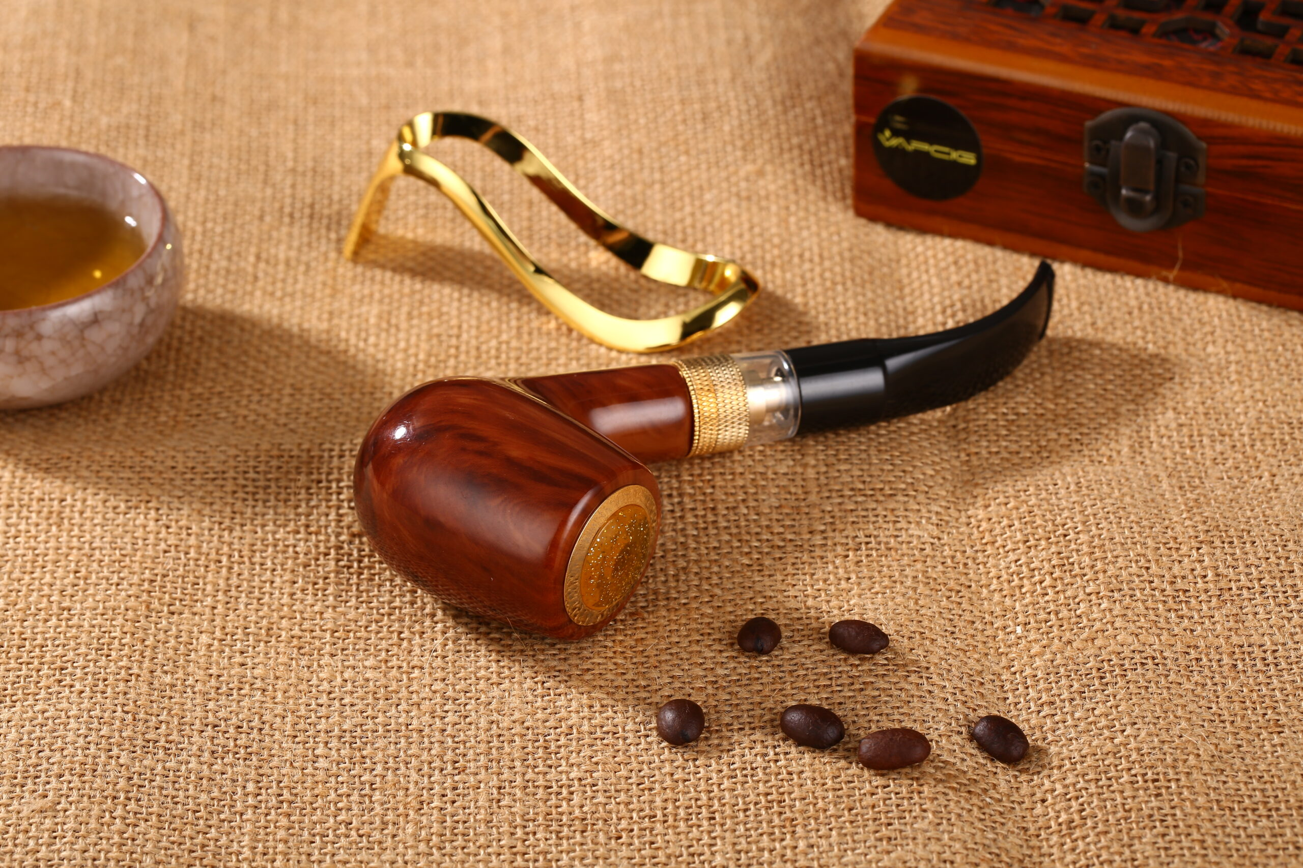 Executive Traditional ePipe Electronic Pipe Vapcig Brown