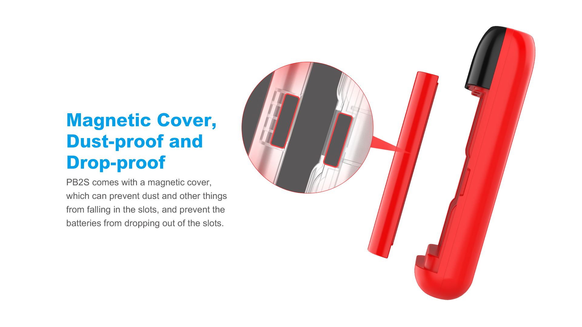 PB2s Powerbank Charger Magnetic Clip