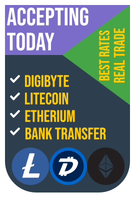 eShisha Payments Bank Transfer Digibyte Etherium Litecoin
